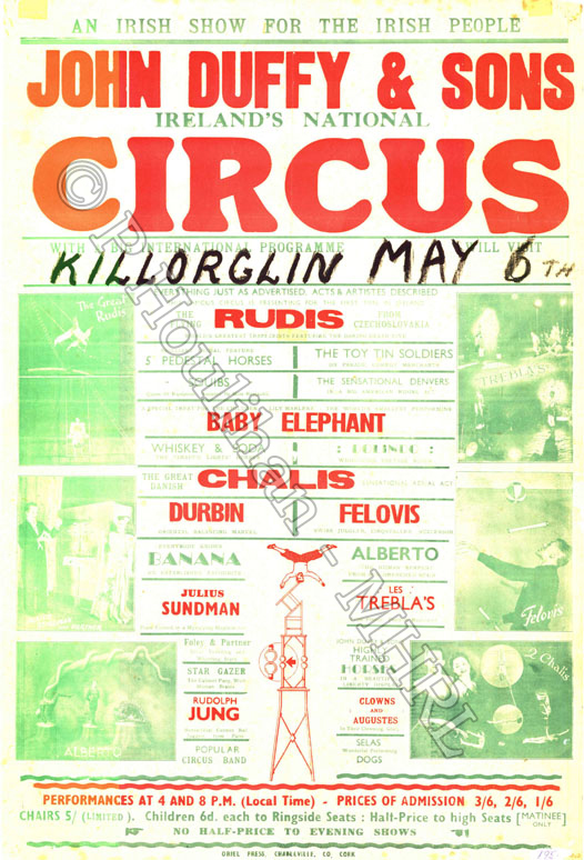 Date: 6th May (1946 in pencil and 1952 in biro) Title: John Duffy & Sons Location: Killorglin Dimensions 76.5cms x 51.5cms Accession No: PH0022