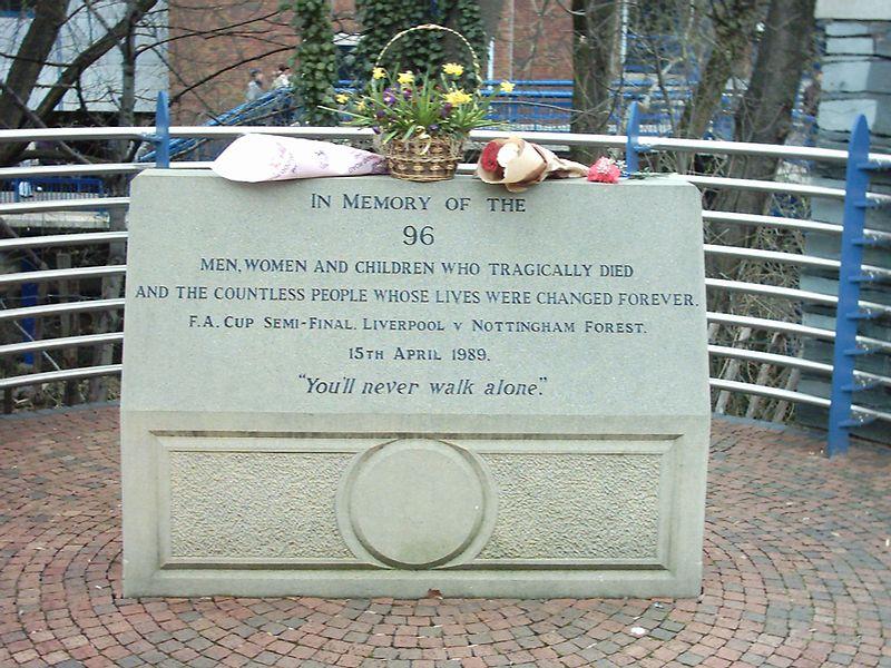 Hillsborough Memorial Plaque